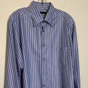 Ermenegildo Zegna Cotton Herringbone Stripe Sz L